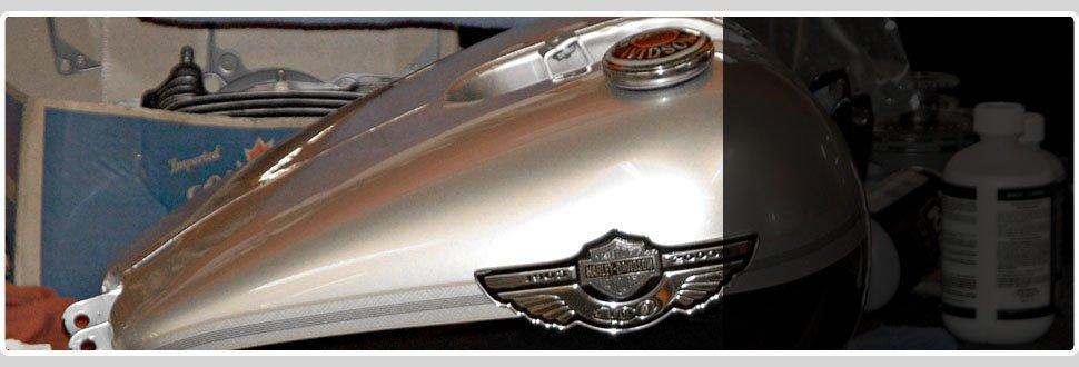 White fuel tank