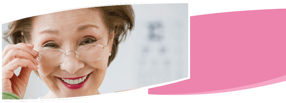 Woman wearing an eyeglass