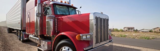 red truck trailer