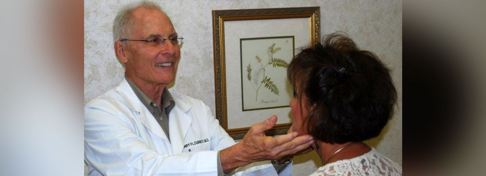 Dr. Henry Flournoy With Patient