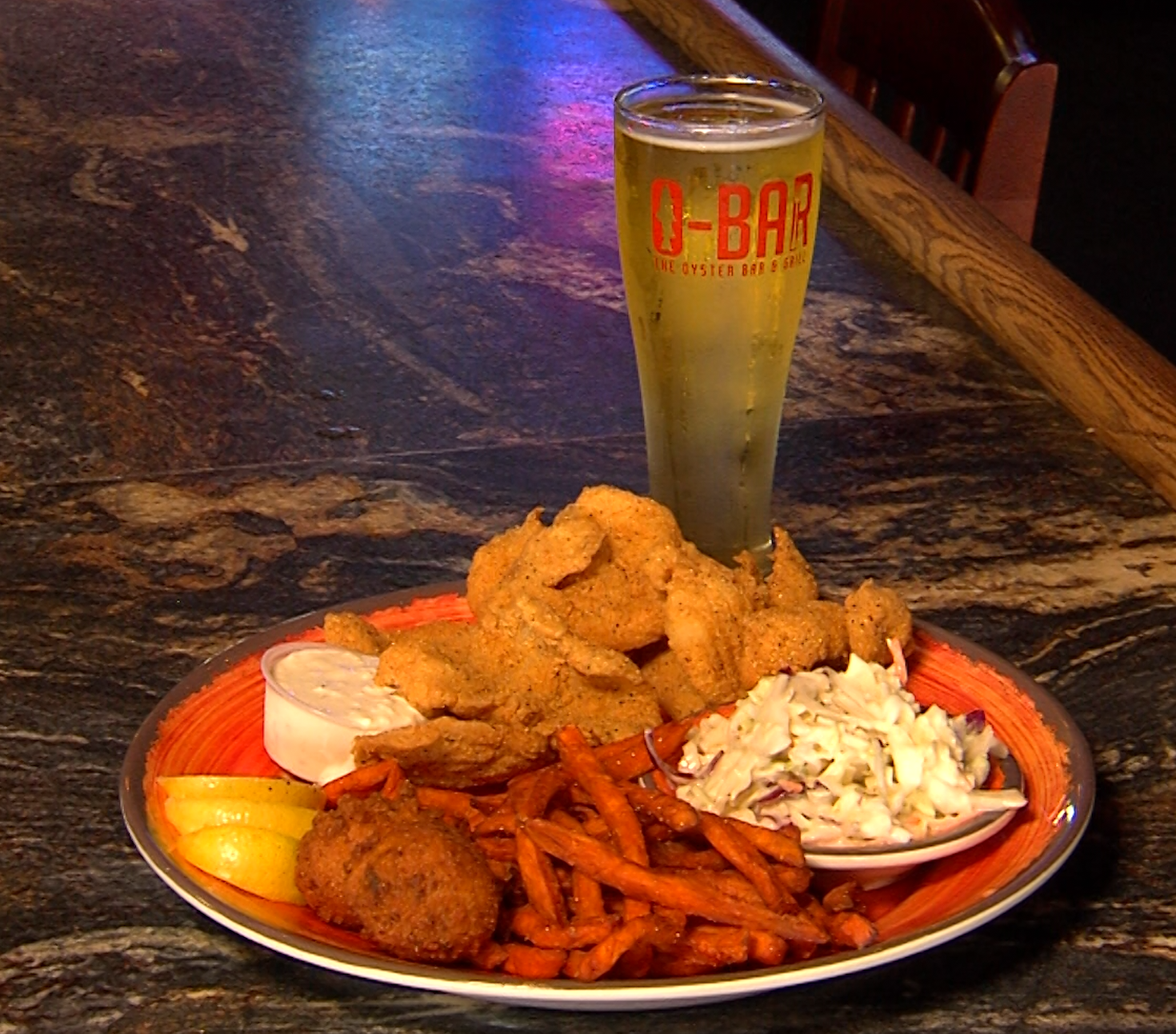 Catfish and pilsner