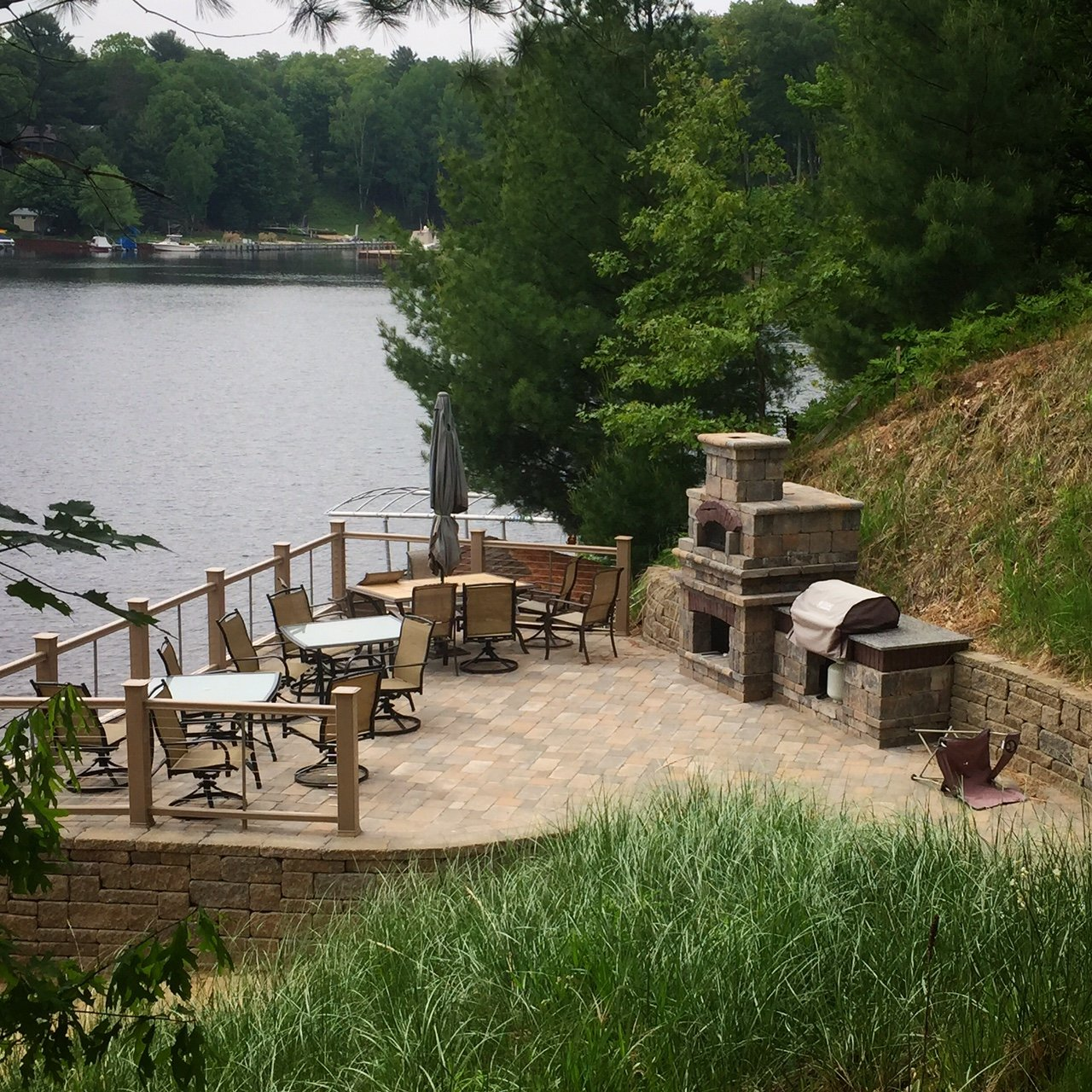 Paver Patio On A Lake