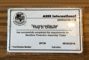 ASSE Certification