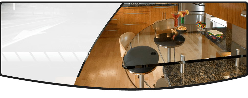 Mirror and plate glass installation