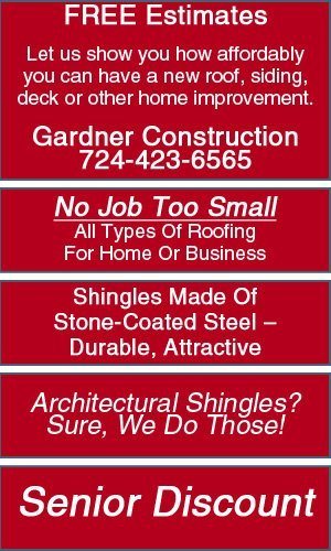 Roofing  - Greensburg, PA - Gardner Construction