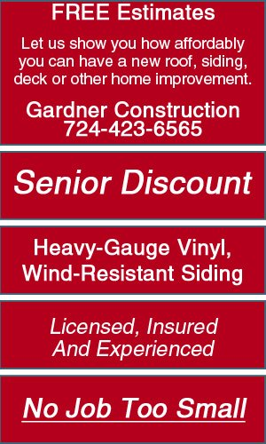 Siding, Gutters and Downspouts - Greensburg, PA - Gardner Construction