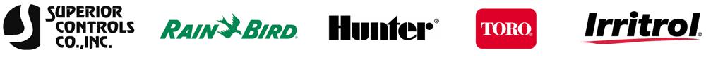 Superior, Rain Bird, Toro, Count on it, Hunter, Irritrol logos