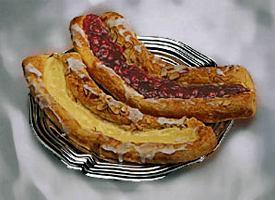Cake Shop - Santa Barbara, CA - Olsen's Danish Village Bakery - Danish Fruit Strips