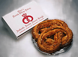 Coffee Shop - Santa Barbara, CA - Olsen's Danish Village Bakery - Almond Custard Kringle