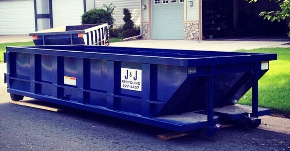 Mudek Trucking & J J recycling dumpster