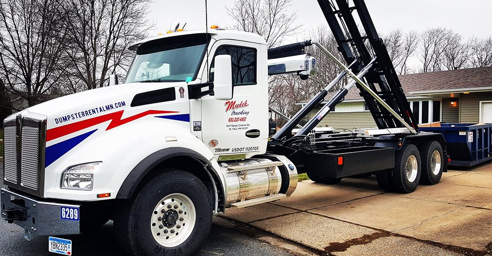 Mudek Trucking & J J recycling truck