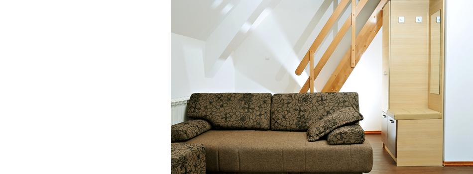 Nice basement with sofa