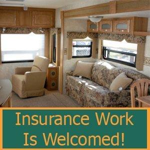 Upholstery Repair - Norfolk, VA - Johnson's RV Service Center - Inside RV - Insurance Work Is Welcomed!