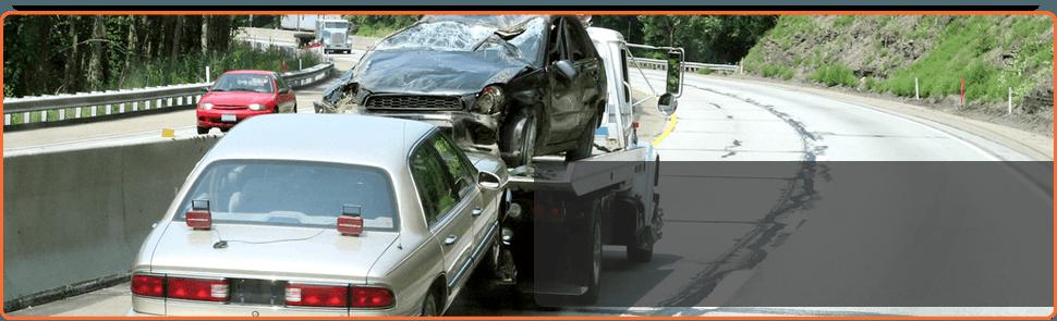 Towing a damage car