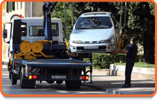Towing a car in a locality