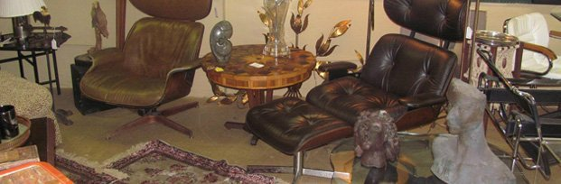 Antique Furniture and bust figures