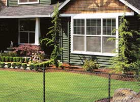 Fence Madison, WI Struck & Irwin Fence Inc Baron Chesterfield Vinyl - Black Chain Link