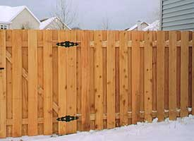 Fence Madison, WI Struck & Irwin Fence Inc Baron Cape Cod - Cedar Alternating Board