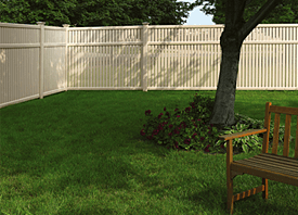 Fence Madison, WI Struck & Irwin Fence Inc Lexington - Imperial Vinyl-Tan