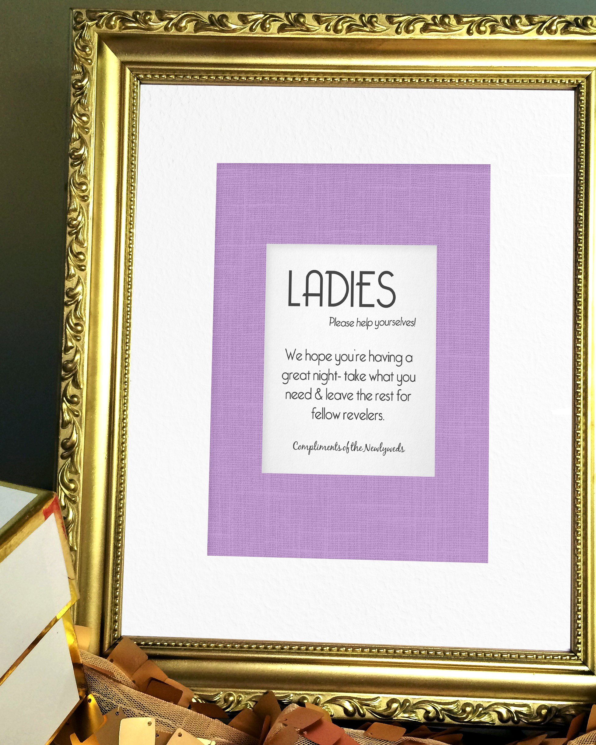 Lilac Ladies Room Poster