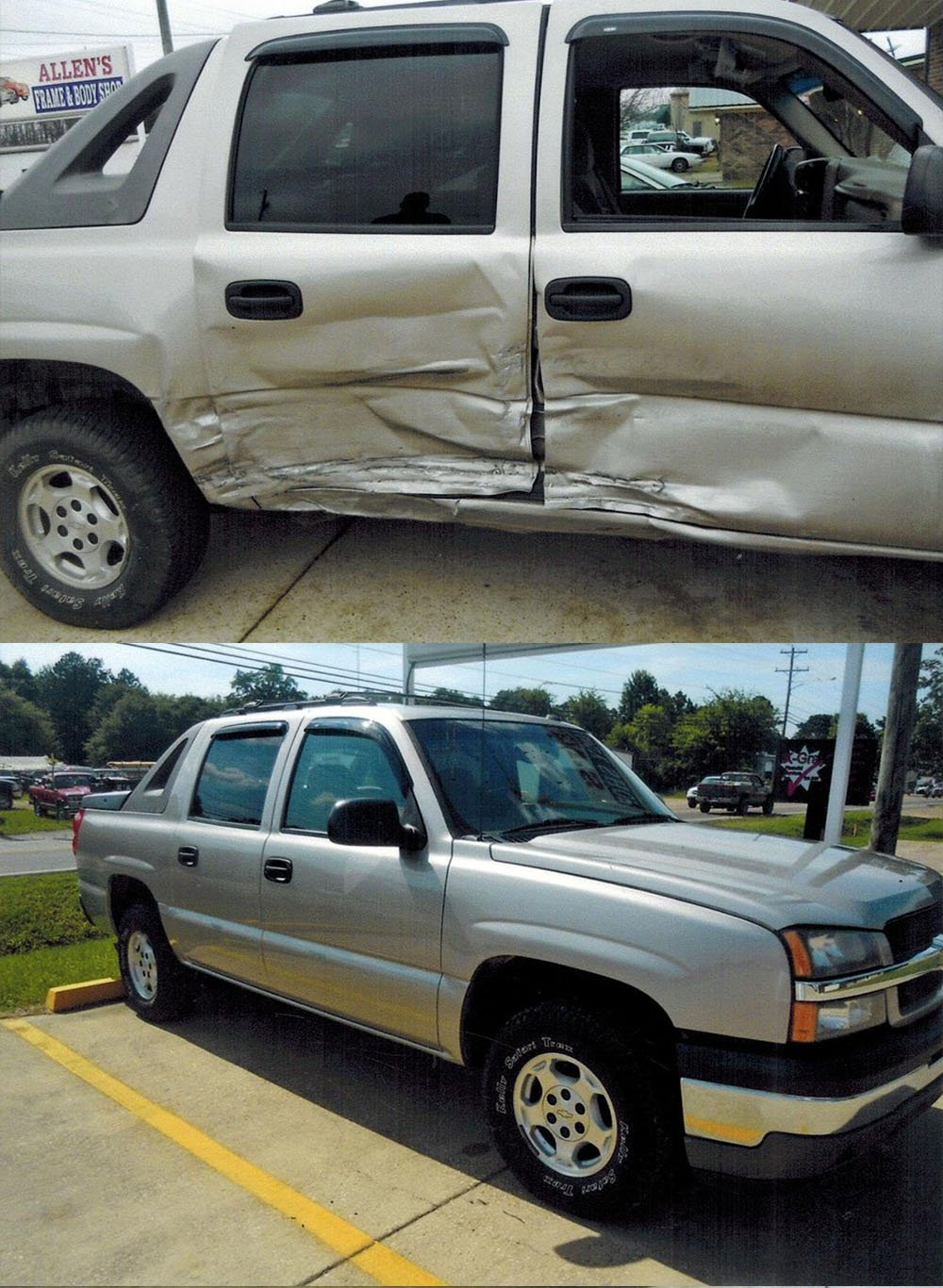 Before and after pics of collision repair