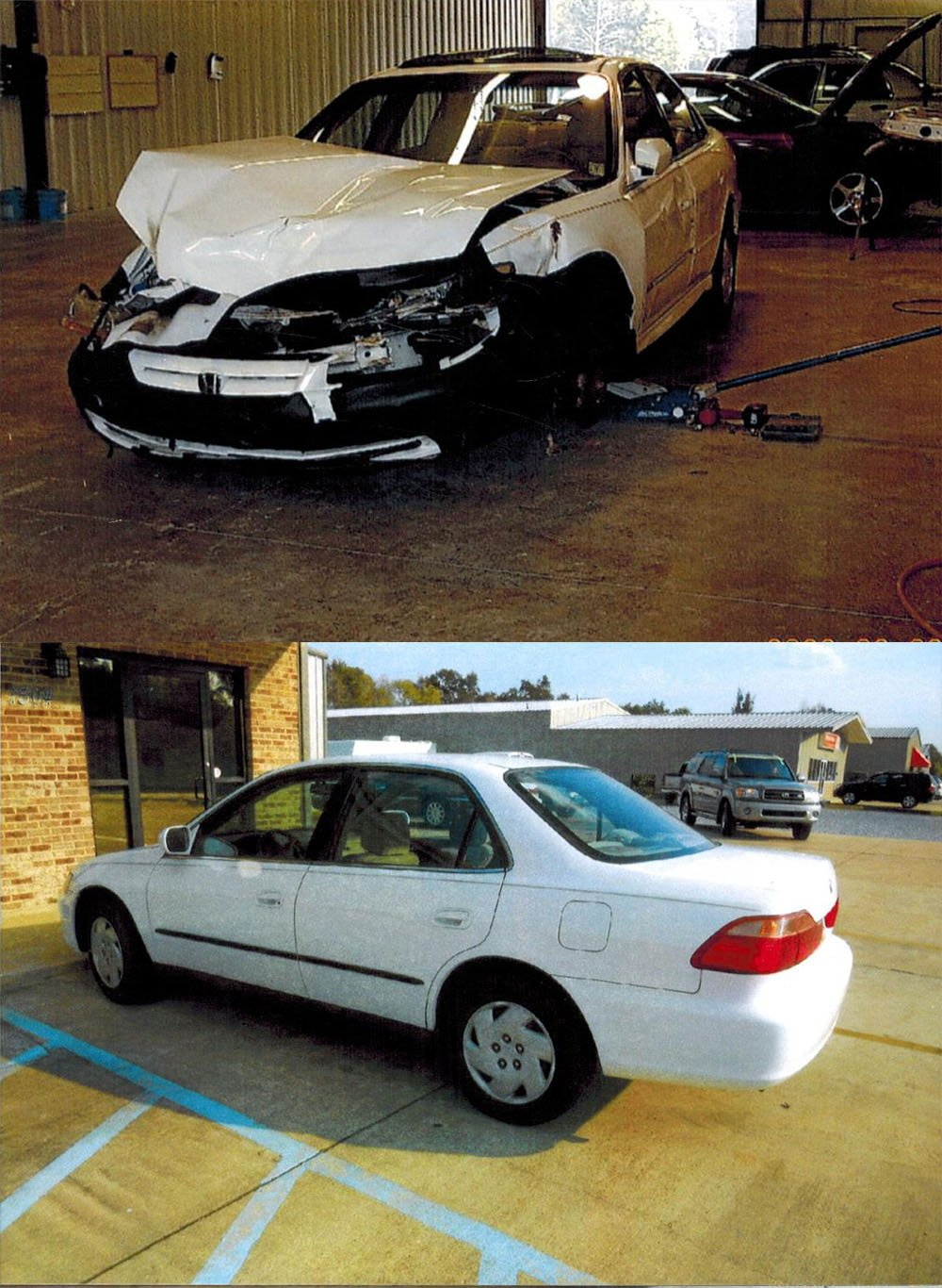 Before and after pics of auto collision repair