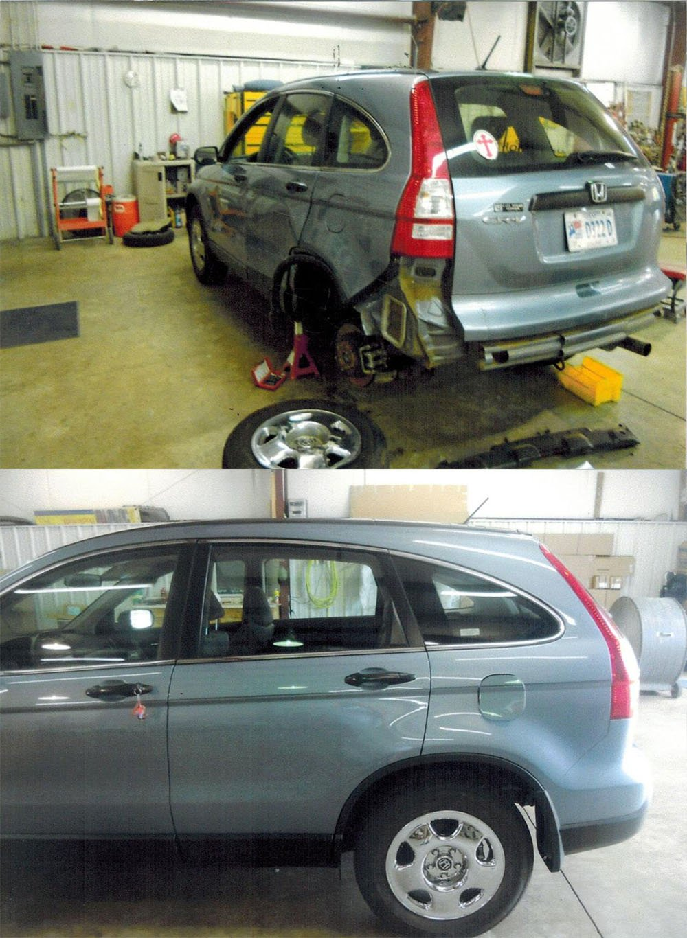 Before and after pics of auto body work