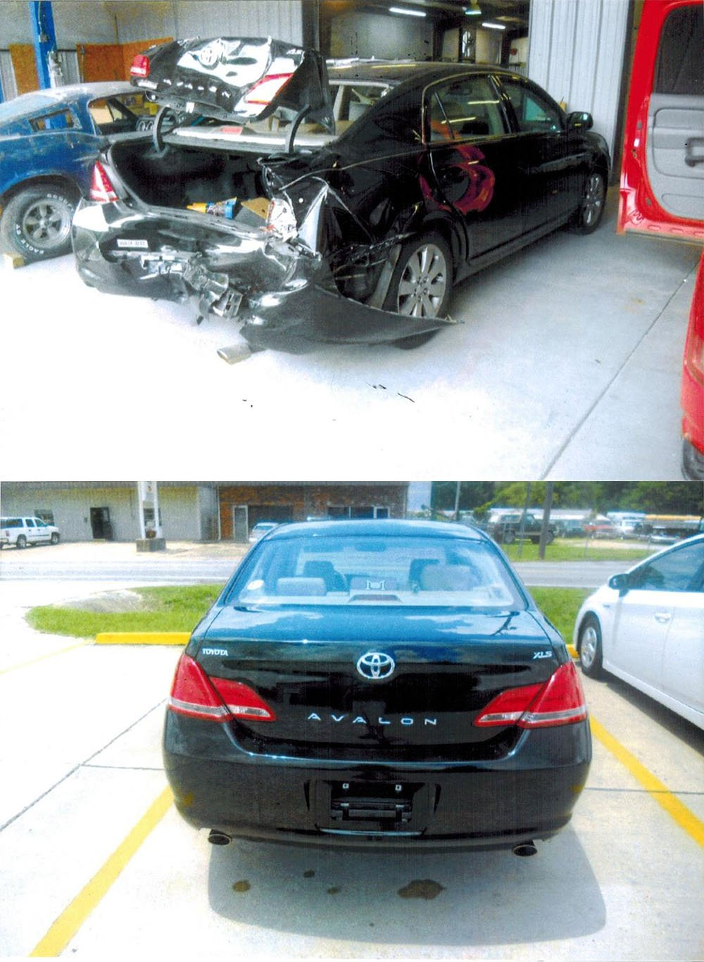 Before and after pics of auto collision