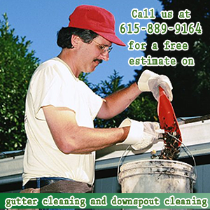 Gutter Cleaner - Nashville, TN - All Seasons Window Cleaning - Call us at 615-889-9164 for  a free estimate on gutter cleaning and downspout cleaning.