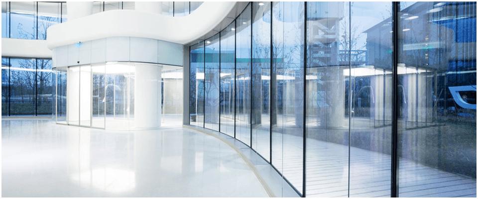 Clean office lobby