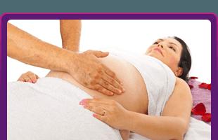 Soft pregnancy massage