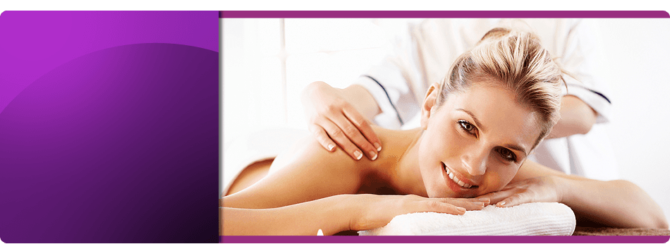 Happy and relax woman availing therapeutic massage