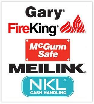 Gary, Fireking, McGunn Safe, Meilink, NKL Cash Handling Logo