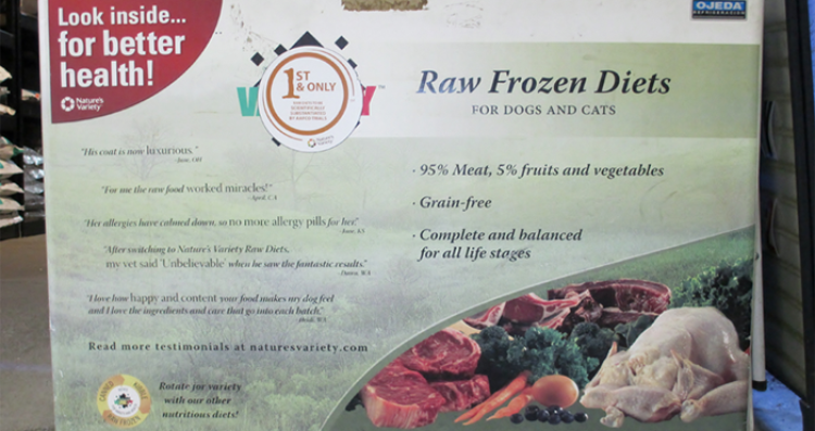 Raw Frozen Food