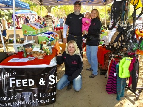 Our family as Vendors at Bark in the Park