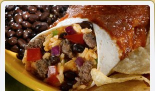 Tasty Burrito with lots of ingredients