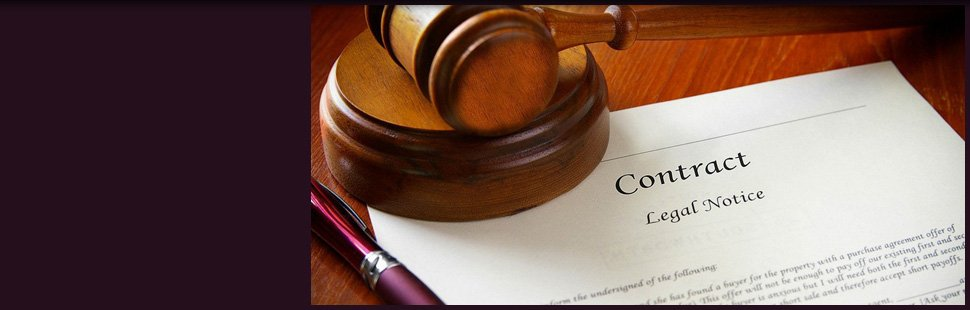 Legal gavel and a job contract