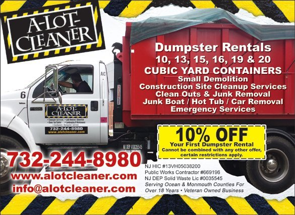 Holiday Sale 10 % off Dumpster Rental Services in Ocean County NJ