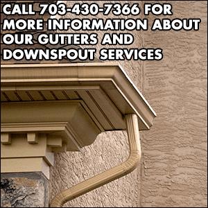 downspouts gutters - Sterling, VA - SBS Siding - downspout