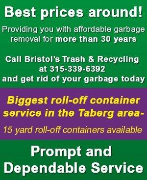 Garbage Removal  - Taberg, NY  - Bristol's Trash & Recycling