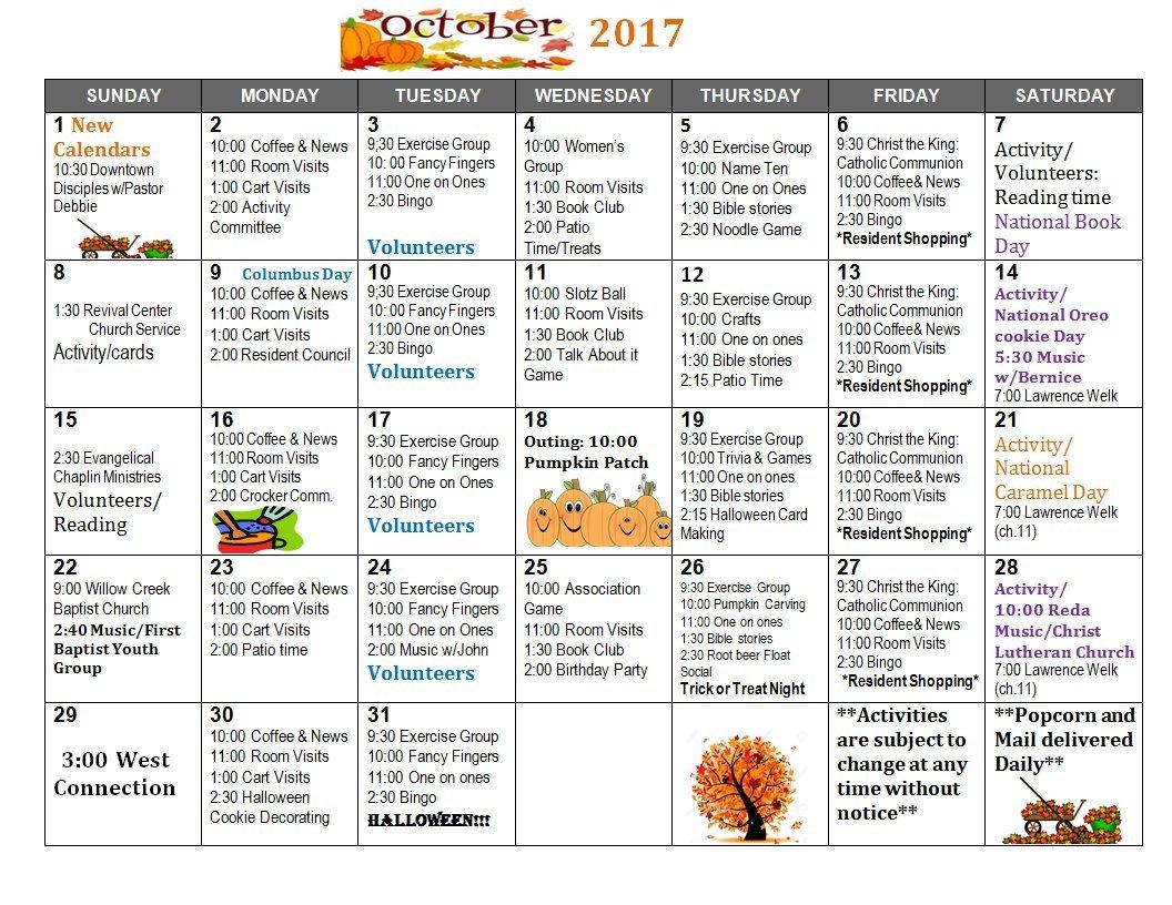 June Calendar Fleur Heights