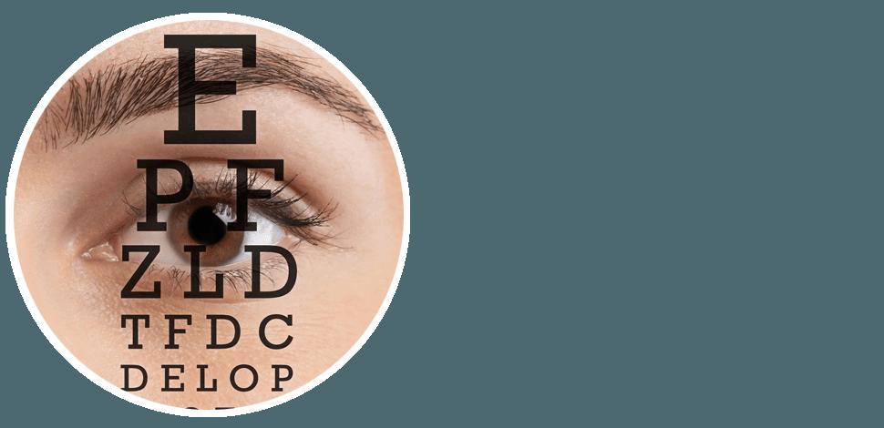 Eye with Eye Chart
