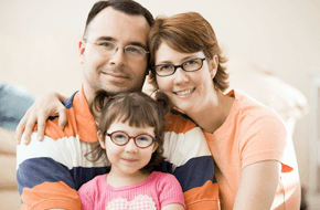 Family with spectacles