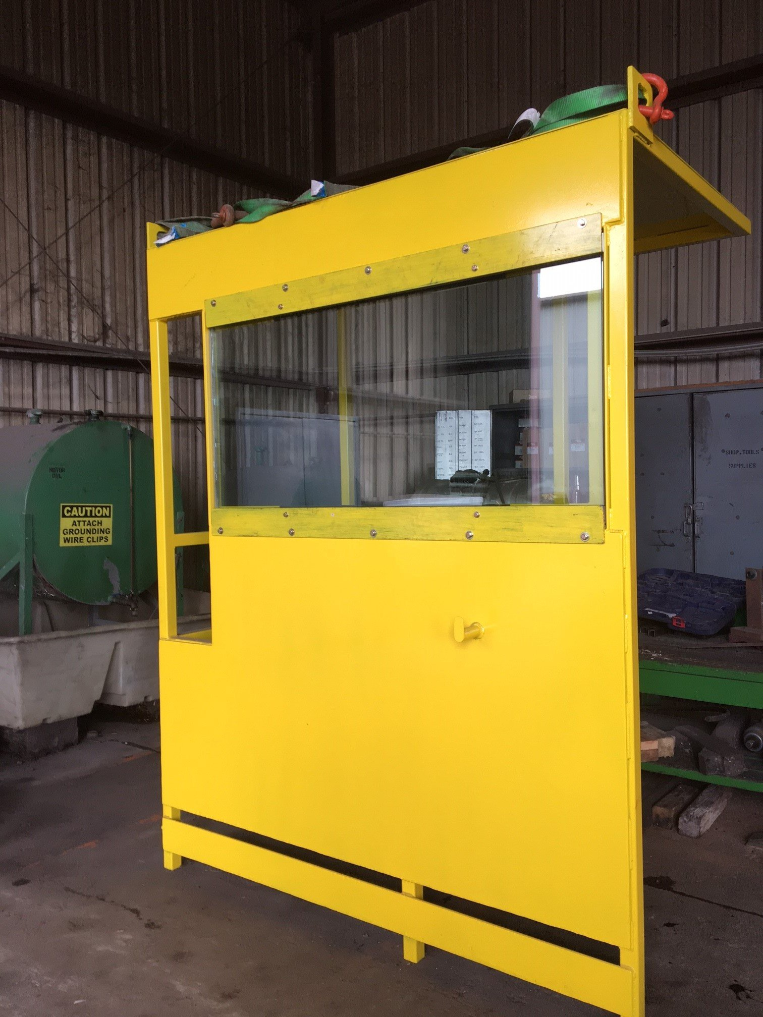yellow glass box