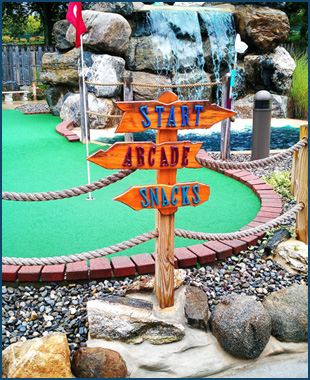 Outdoor Mini Golf | Lake Hopatcong, NJ | Castle Cove Mini Golf & Arcade | 973-891-1248