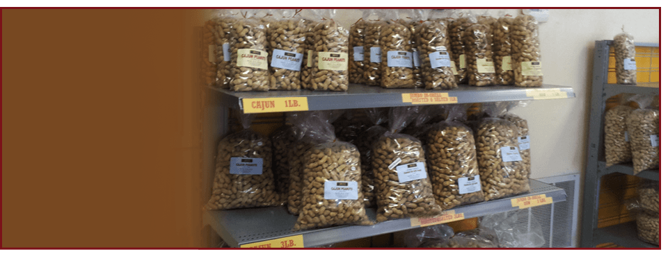 Different kinds of peanuts