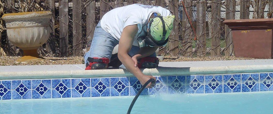 Pool Tile Cleaning Bead Blasting Midlothian Tx
