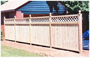 Custom cedar wood fence