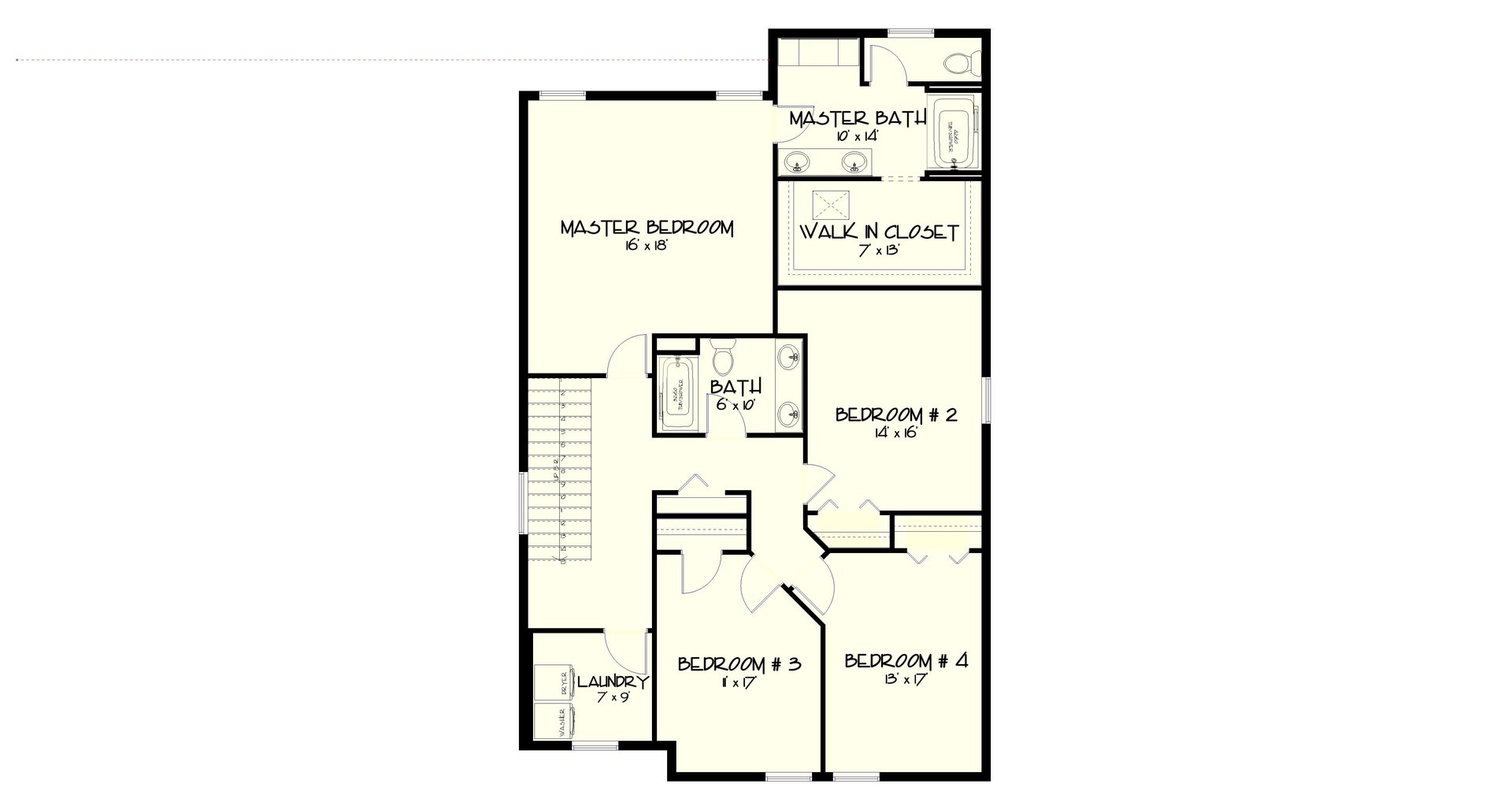 UPPER FLOOR PLAN CALLOWAY