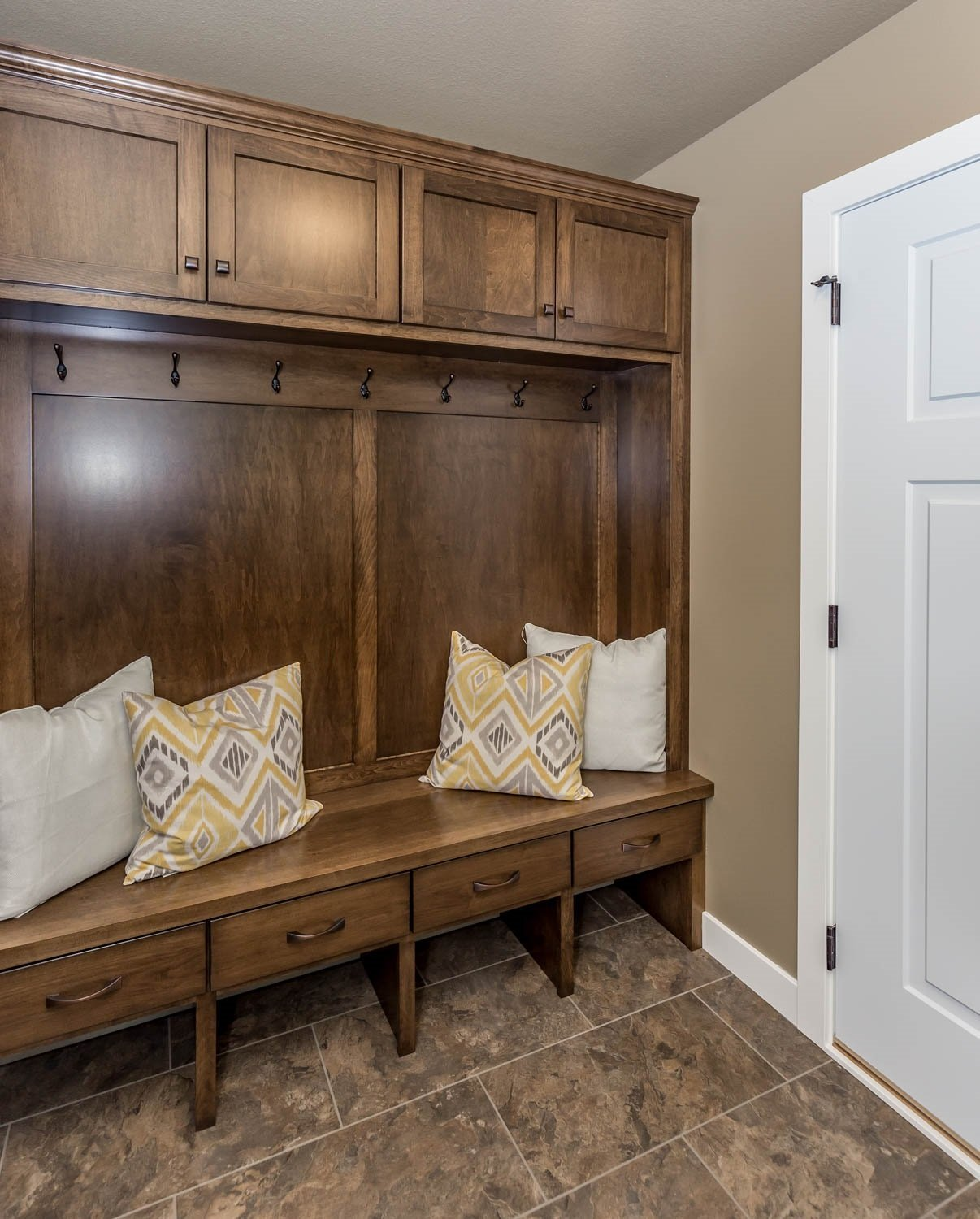 Cabinet and pillows